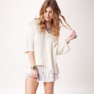 [Free People] Park Slope Knit Sweater Cream